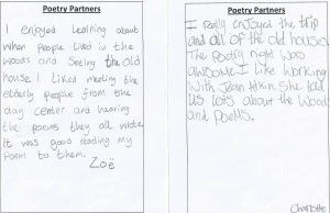 'Poetry Partners' - children's feedback