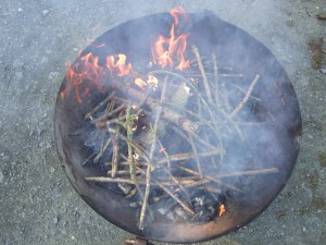 Bury Ditches firebowl mid