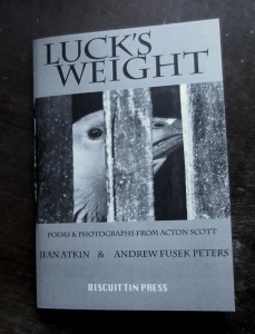 Luck's Weight pamphlet frontcover