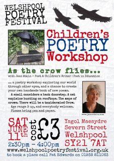 Welshpool crow workshp poster