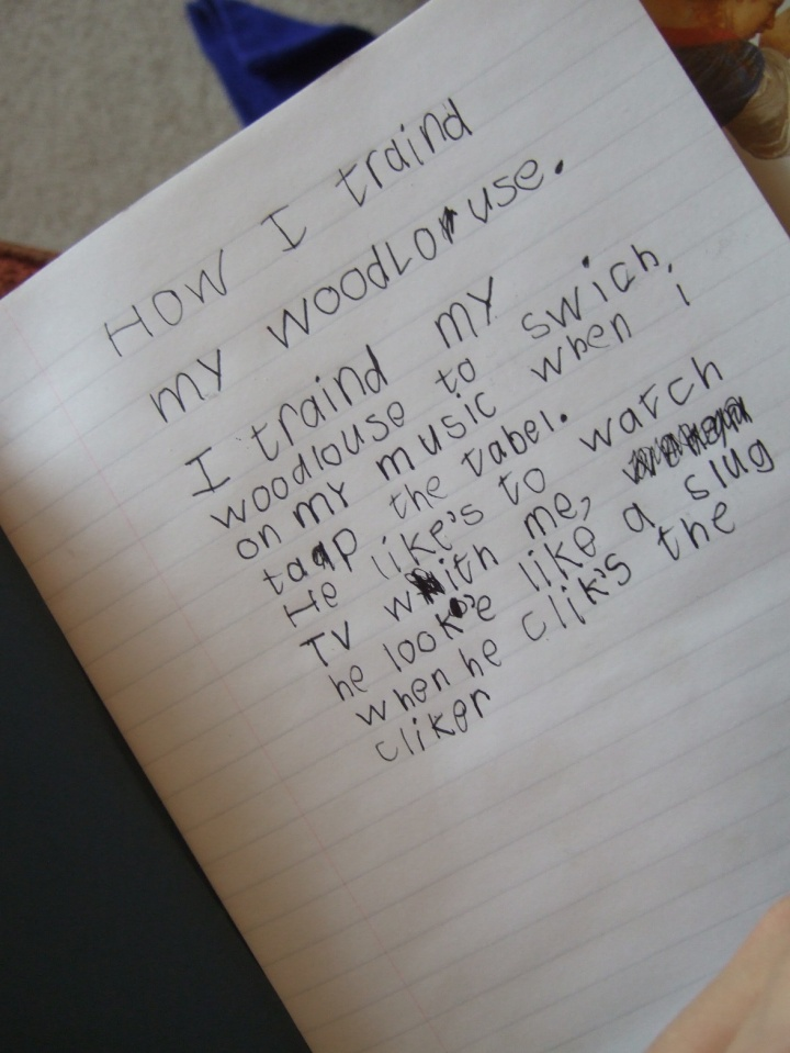 Woodlouse Poems Jonah's poem