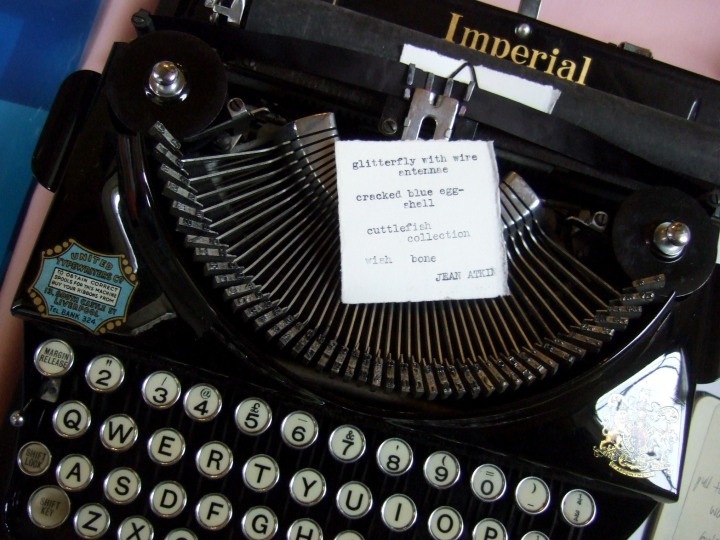 WPF 2015 typewriter + poem