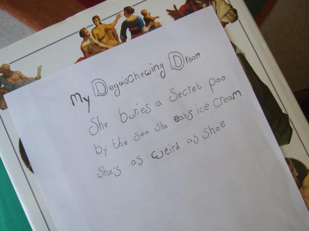 Home Ed Group Mollie randomiser poem