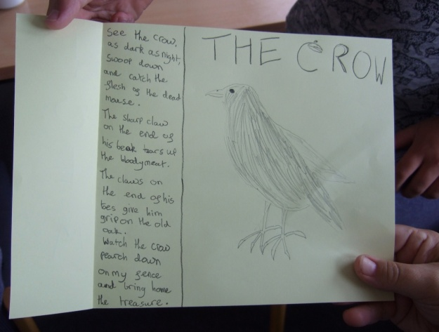 Crow House Ludlow Library crow drawing 2