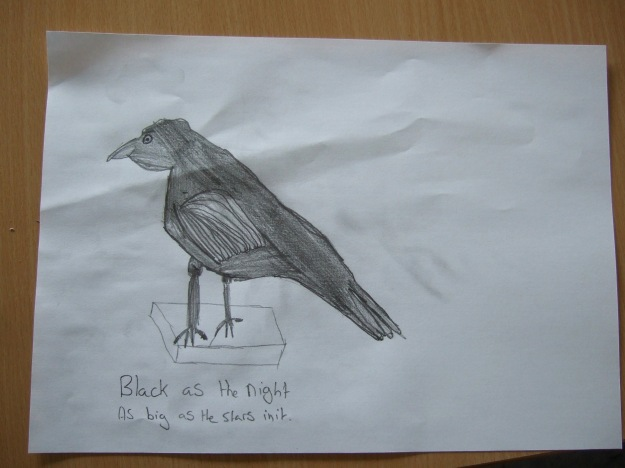 Crow House Ludlow Library crow drawing 5 Ben