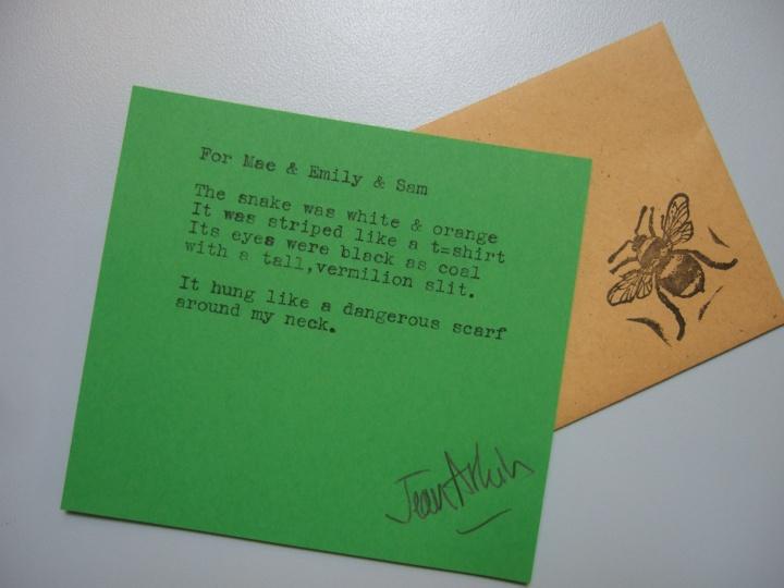 Helena Lane Poet at Work (12) Snake