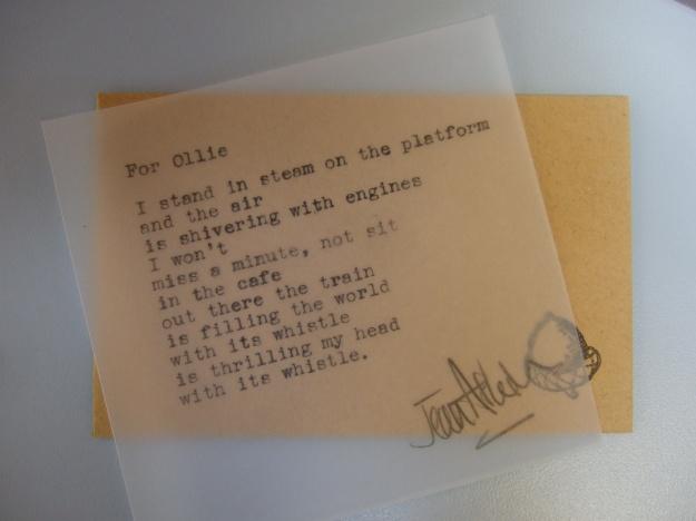 Helena Lane Poet at Work (8) Ollie