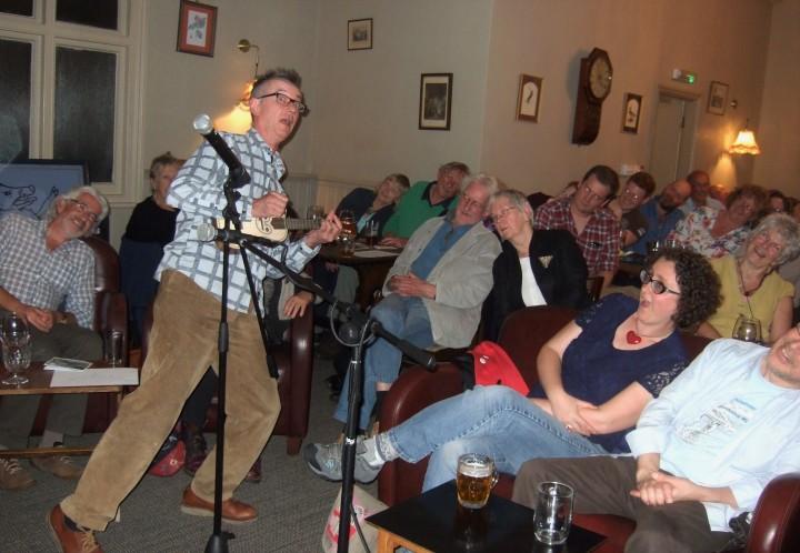 John Hegley & Leaning Audience 2