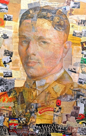 NWS PAUL HEAPS Art work of the Great War poet Wilfred Owen which was unveiled by artist Tony Brown at the Wilfred Owen Story in Brikenhead.
